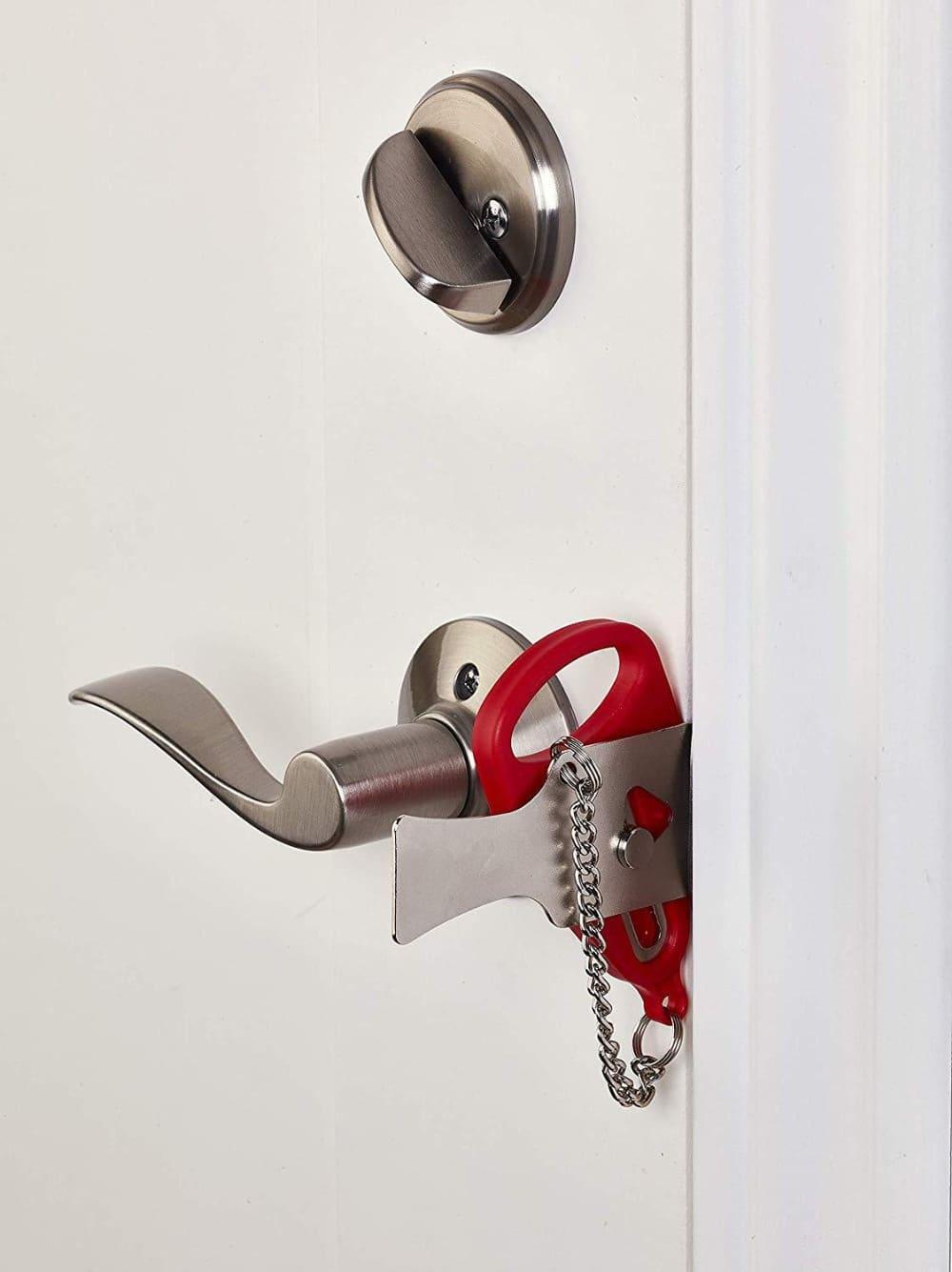 portable door lock system