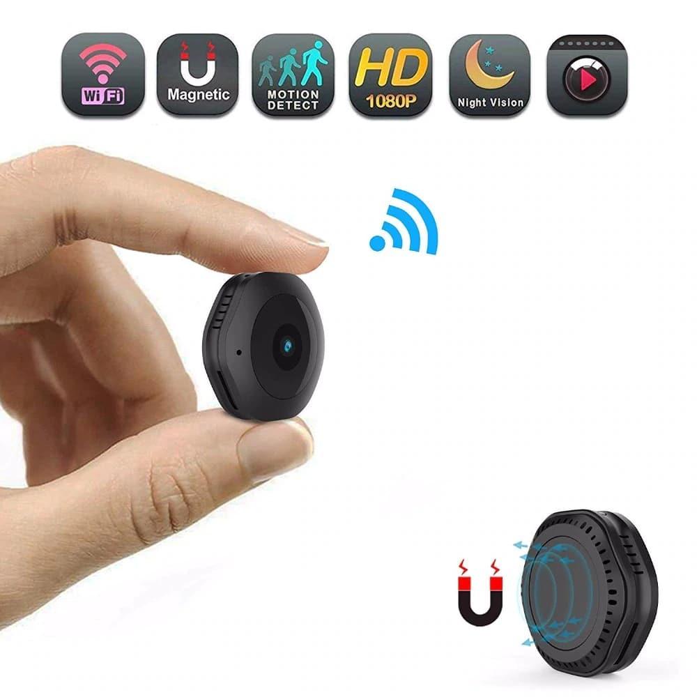 Nanny Cam Pro™ Waterproof HD WiFi Micro Camera w Night Vision /& Motion Detect