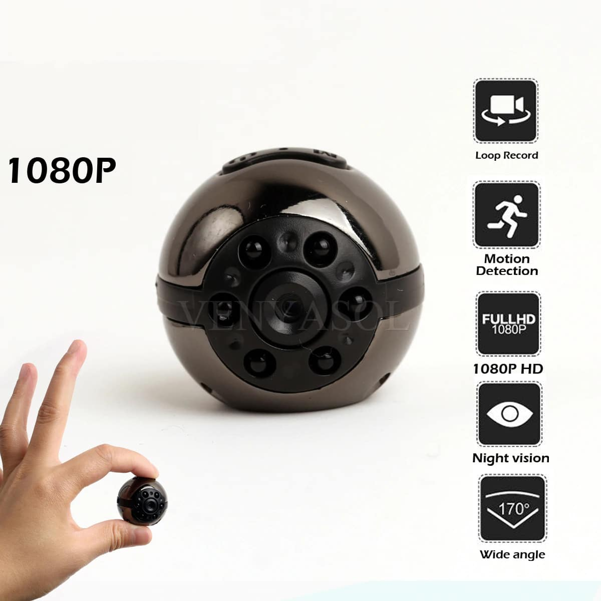 full hd 1080p mini camera and camcorder with night vision and audio recorder