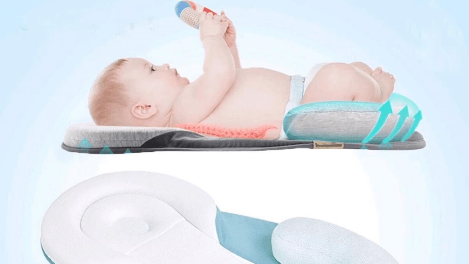 Baby Boy Girls Cotton Head Shape Nursing Breath Pillows Infant Animal Guard Head