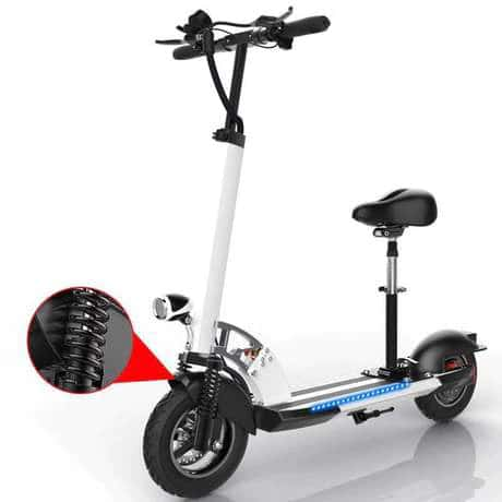 48V 45km/h Foldable Electric Scooter with Shock Absorption and LED for Adult