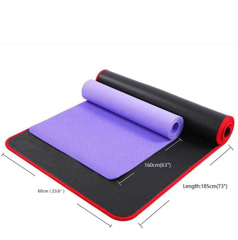 Buy Exercise Sports Gym Nbr Non Slip Mats Fitness Sit Ups Body Shape Yoga Mat 10mm Thick Pilates Anti Tearing Beginner Pads Geekyviews
