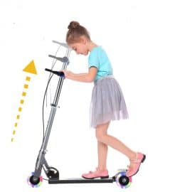 Height Adjustable Kick Scooter for Kids with 3 Wheels