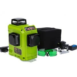 ZOKOUN 12 Lines 3D Self Leveling Green Laser Level 360 Degree Horizontal And Vertical Cross