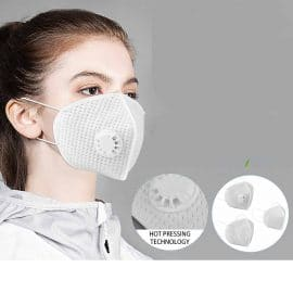 Reusable N95 Mask with Respirator Valve and Thicken Layers Design for Children and Adult