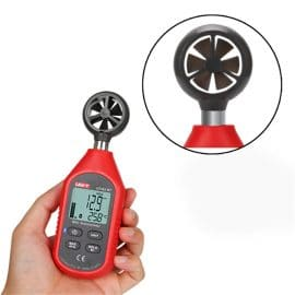 UNI T UT363BT Pocket Size Wind Speed Meter Used as Digital Anemometer with Bluetooth