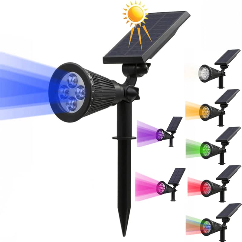 T SUN In Ground IP65 Solar Powered Spotlight with 4 to7 LEDs and Rechargeable Lithium Battery