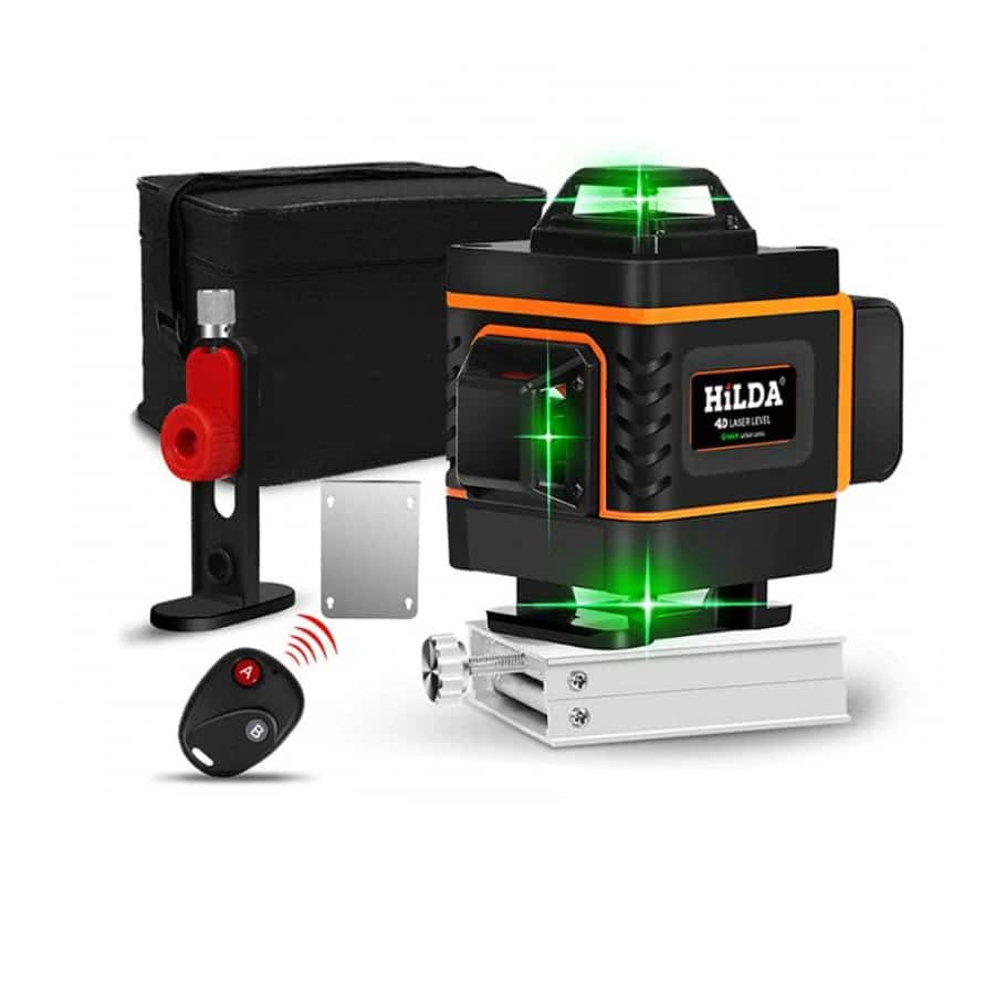 HILDA 16 Lines 4D Self Leveling Laser Level with Buzzing Alarm for Indoor and Outdoor Use