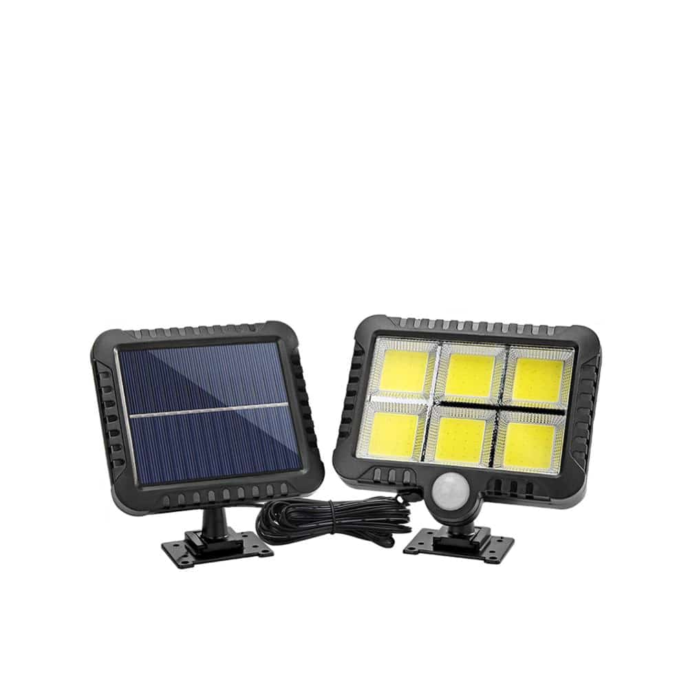 COB Wall Mounted Solar Outdoor Light with 120LED and Motion Sensor Suitable for Street and Garden