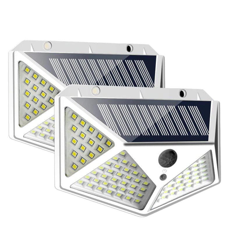 PIR Motion Sensor Solar Outdoor Light with 114 to 100 LED and Lithium Battery Powered by Sunlight
