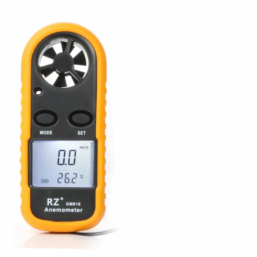Portable RZ GM816 Wind Speed Meter Used as Anemometer with LCD Display Useful for Windsurfing