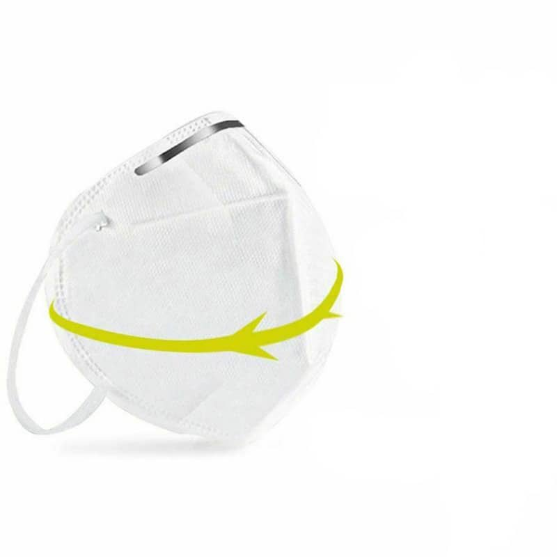 10 to 100pcs KN95 Mask 4 PLY Filtration and elastic ear Hook for Protection from Virus and Influenza