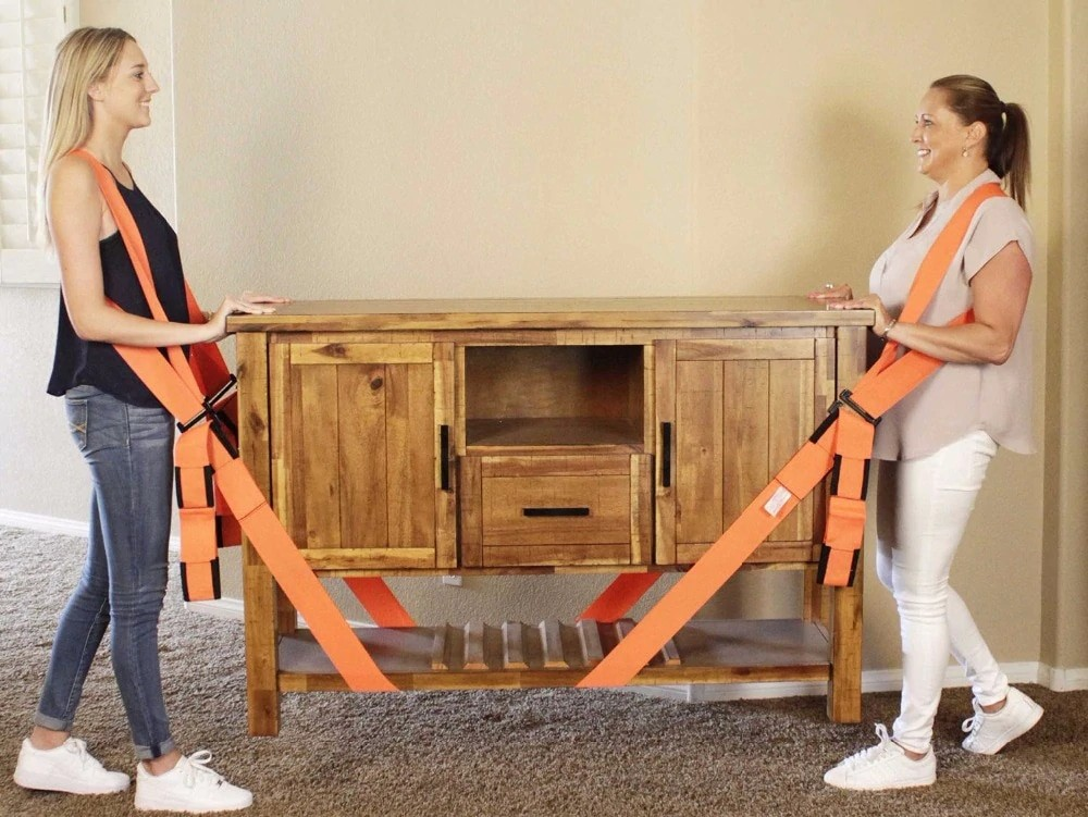 Lifting Straps and Furniture Transport Belt For Carrying Heavy or Large Objects