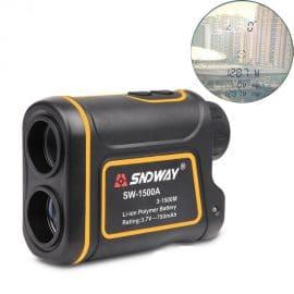 SNDWAY 600M-1500M Battery Powered Laser Rangefinder with Adjustable Diopter Range for Golf