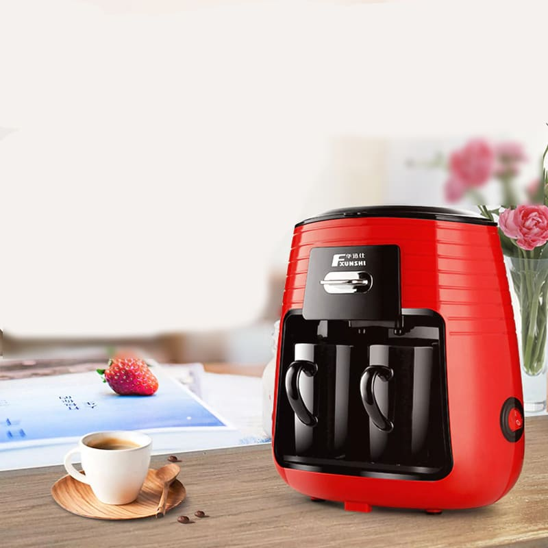 250ml Electric Coffee Maker in Double Cup Design with Automatic Filtration