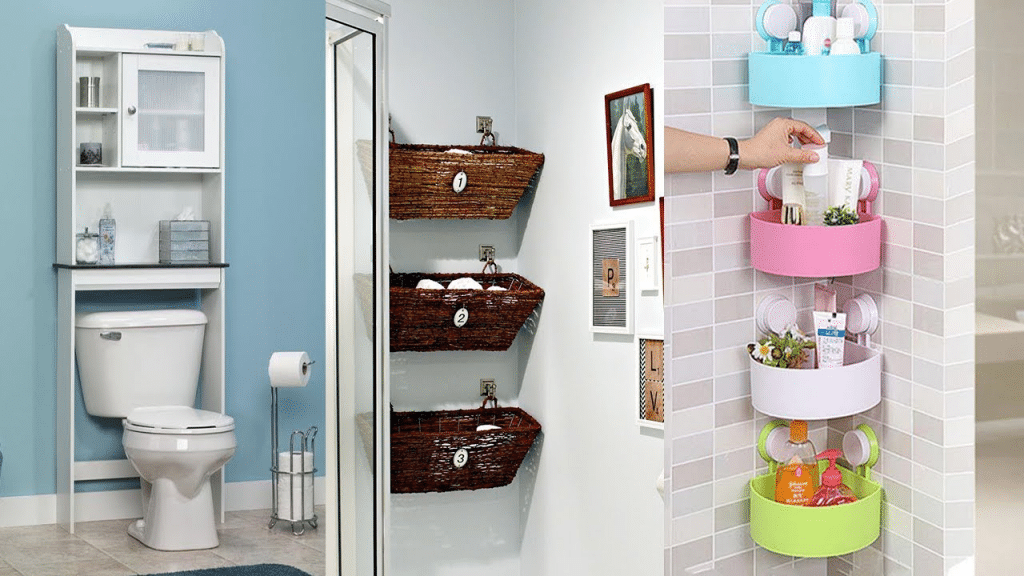 This image has an empty alt attribute; its file name is bathroom-organizer-racks-1024x576.png