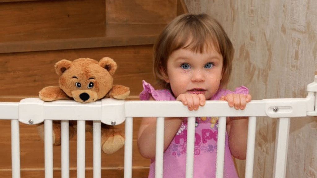 This image has an empty alt attribute; its file name is retractable-baby-gate-1024x576.png