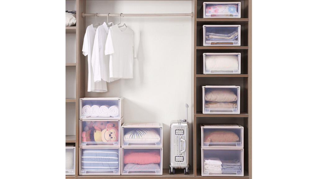 This image has an empty alt attribute; its file name is best-Clothes-Storage-Boxes-for-closet-1024x576.png