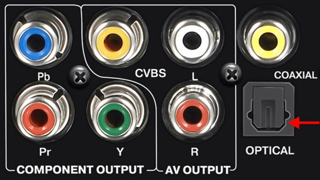 optical audio port