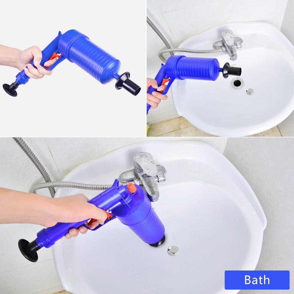 Clogged Bathroom Cleaner With Air Pressure Pump 6