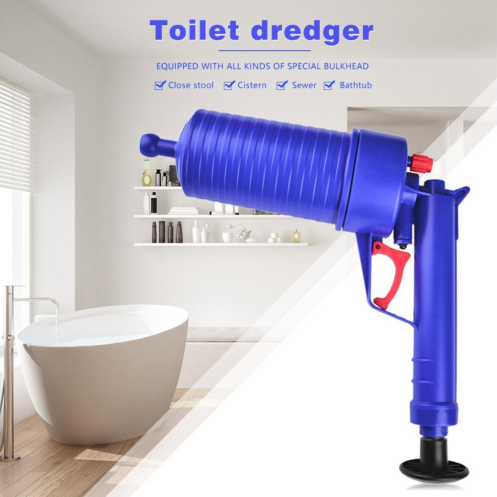 Clogged Bathroom Cleaner With Air Pressure Pump
