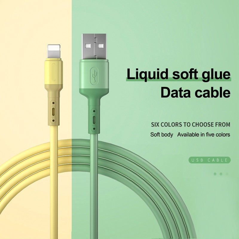 Liquid Silicone USB Cable For iPhone 1