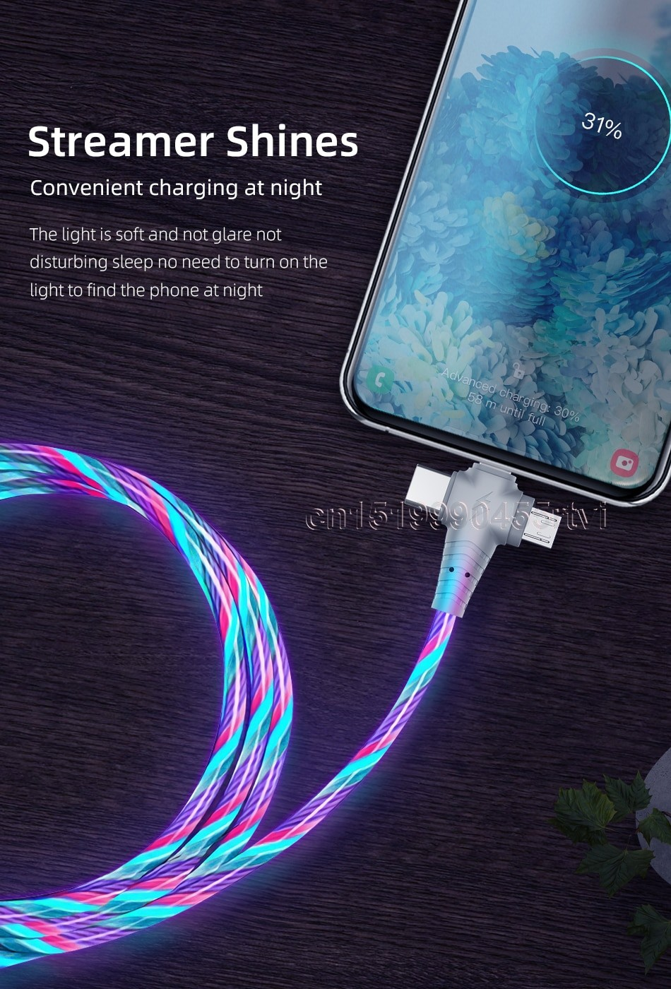 3in1 Flow Luminous Lighting USB cable