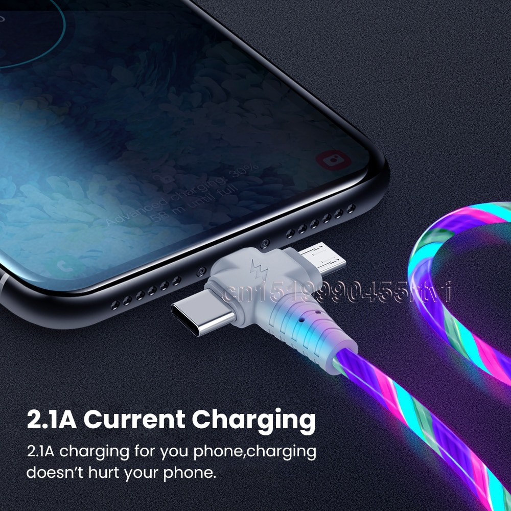 3in1 Luminous Lightning USB cable 3