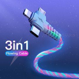 3in1 Luminous Lighting USB cable