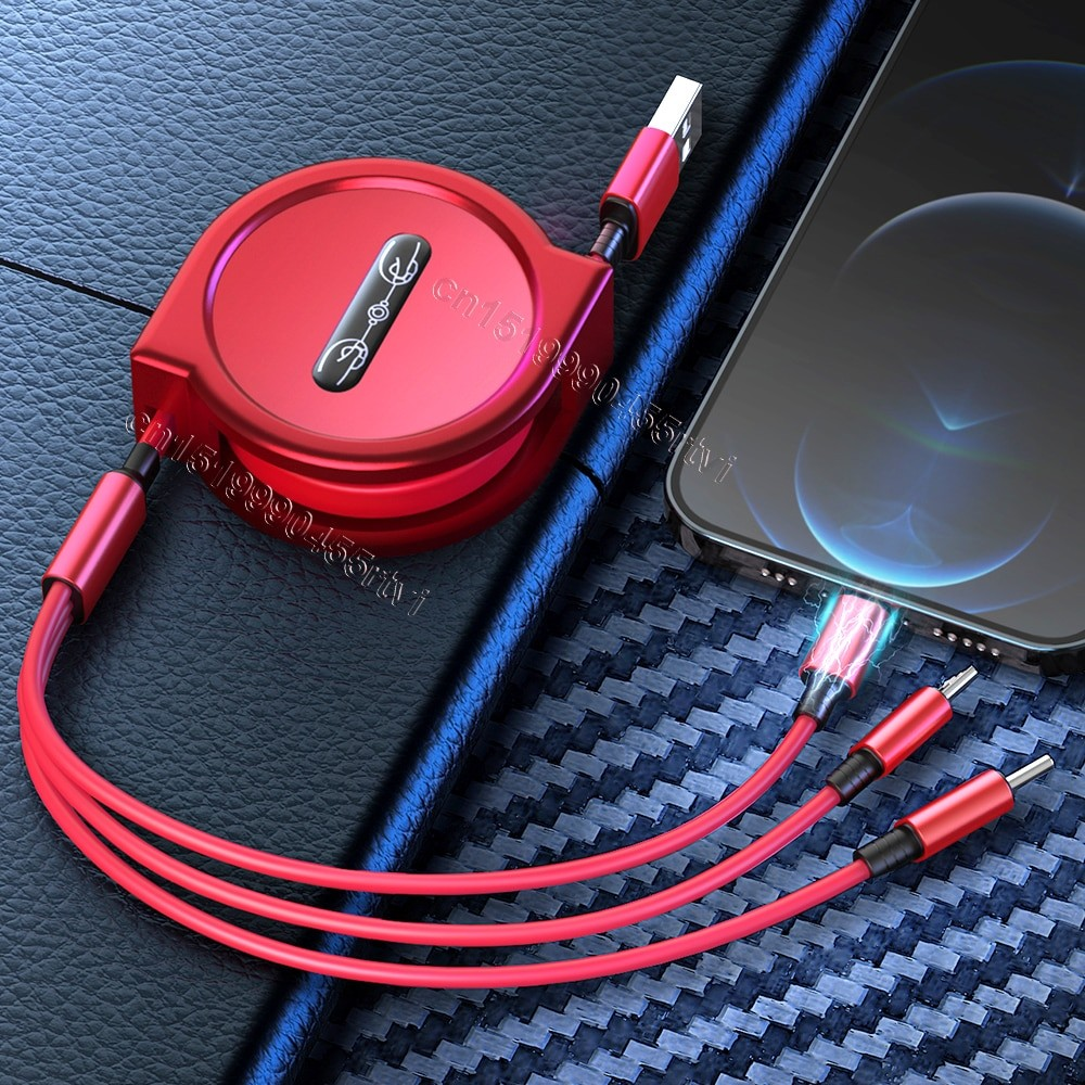 3 In 1 USB Charge Cable 1