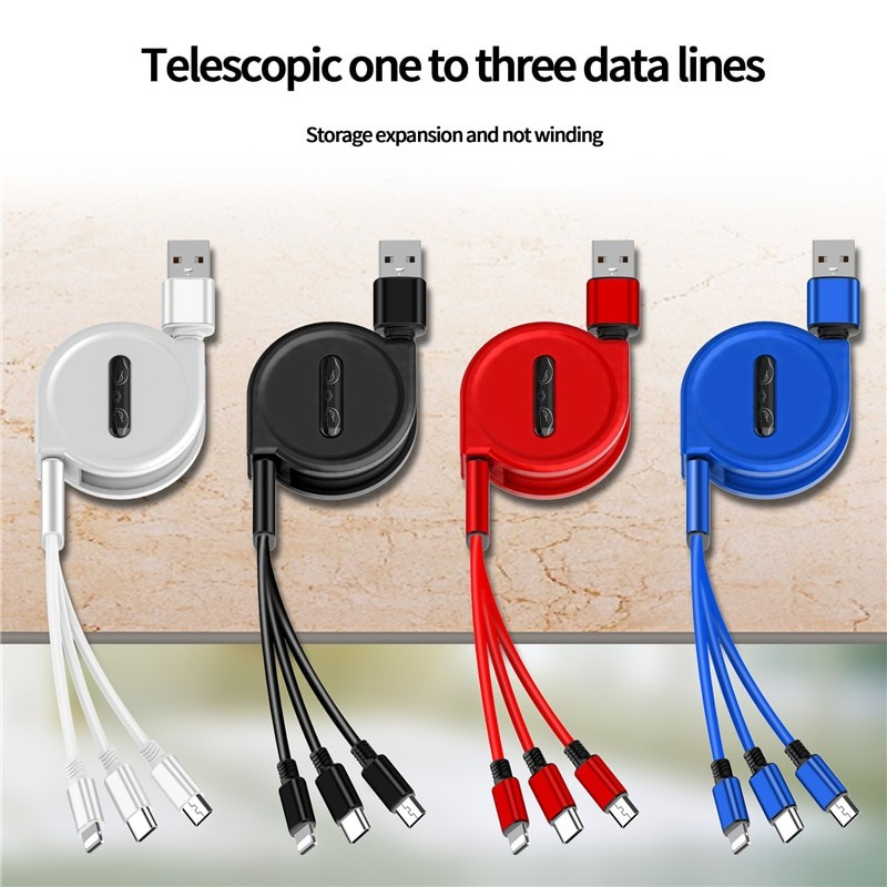 3 In 1 USB Charge Cable 2