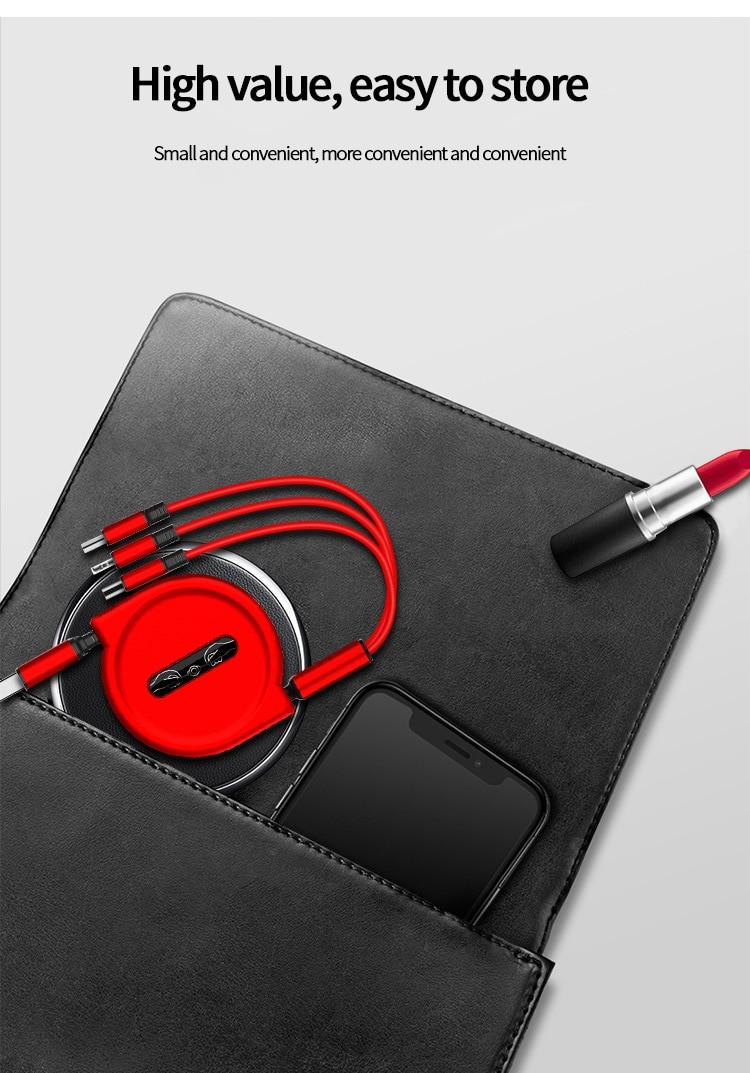 3 In 1 USB Charge Cable