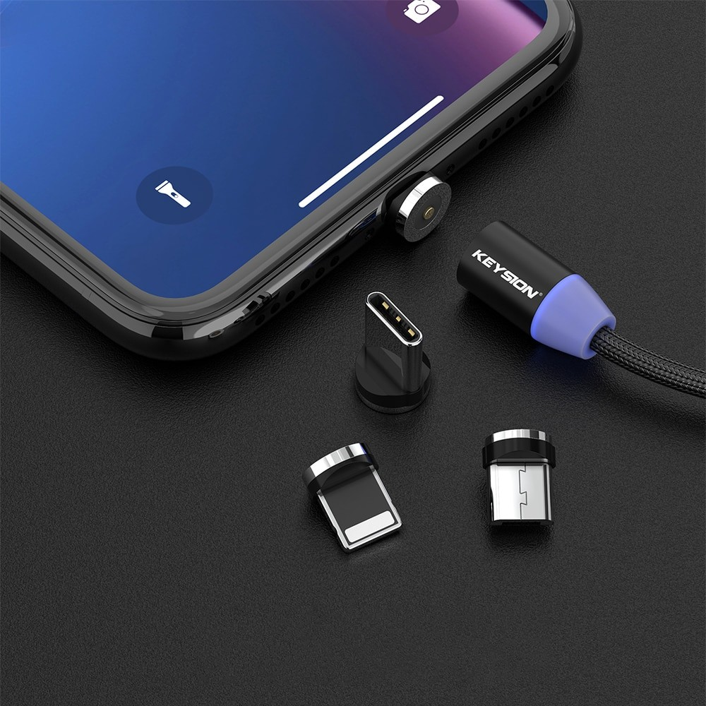 KEYSION LED Magnetic USB Cable 4