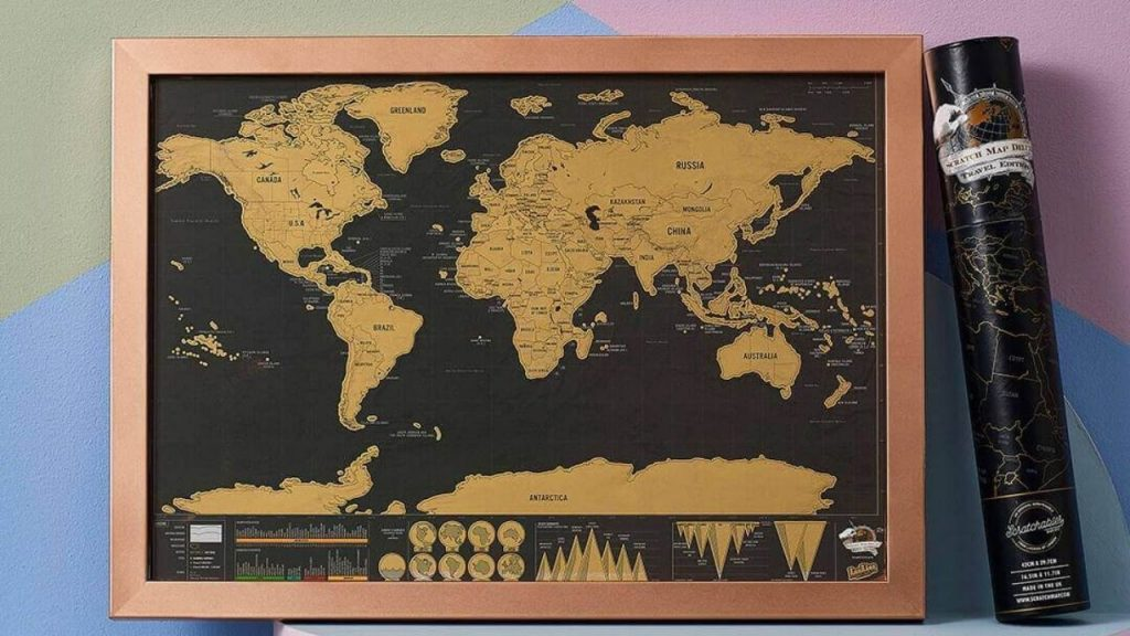 best scratch map with frame