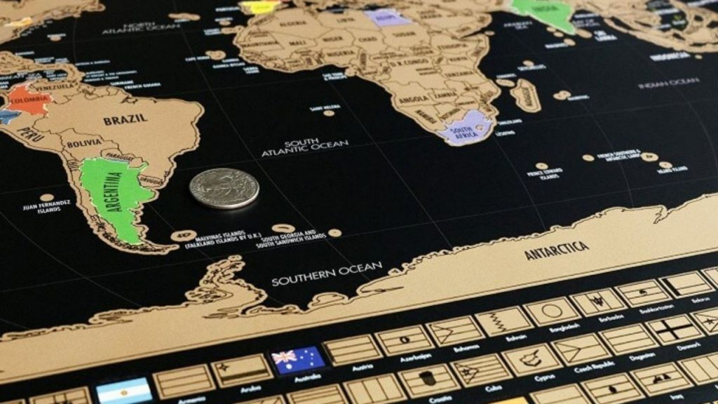 best coin for scratch map