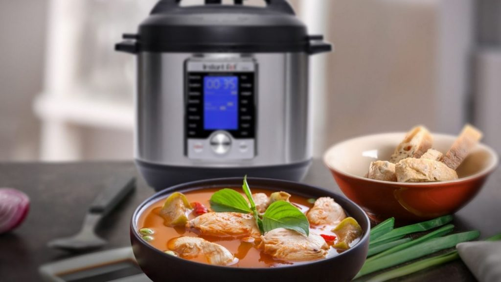 electric pressure cooker with air fryer