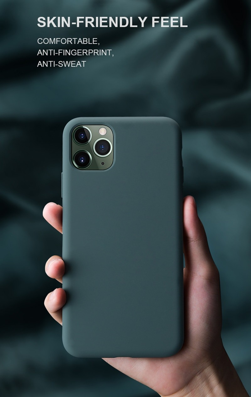 Liquid Silicone Soft Cover For iPhone
