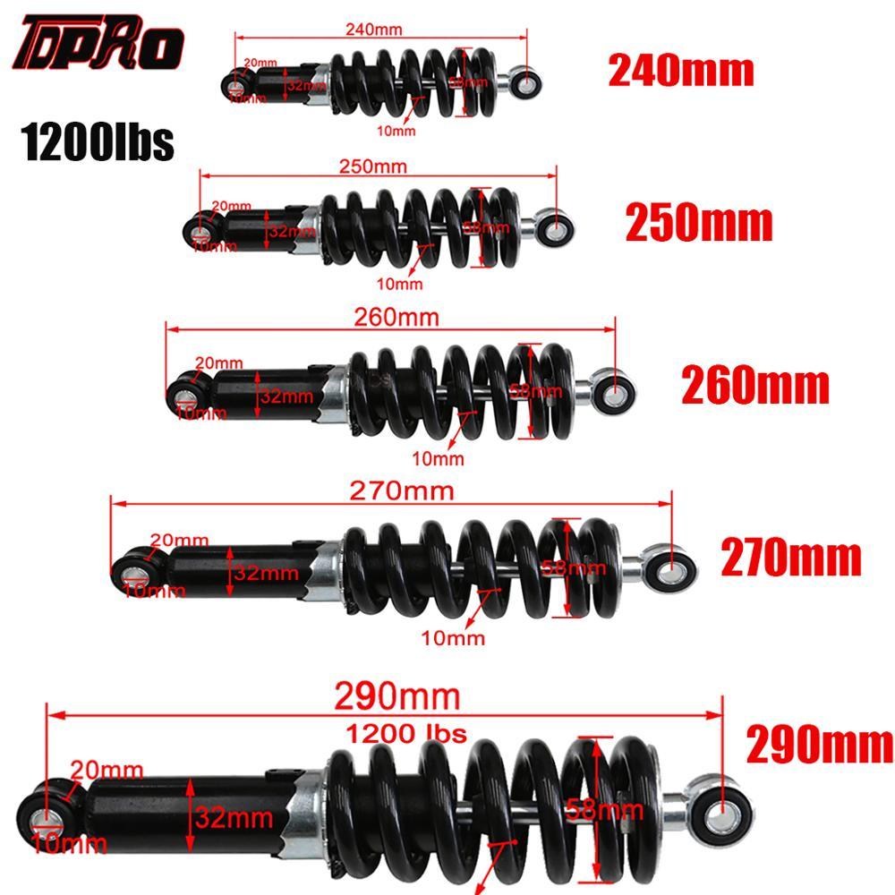 TDPRO Rear Shocker Absorbers 1200LBS 240/250/260/270/290mm 3