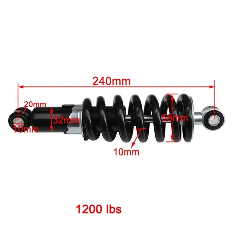 TDPRO Rear Shocker Absorbers 1200LBS 240/250/260/270/290mm