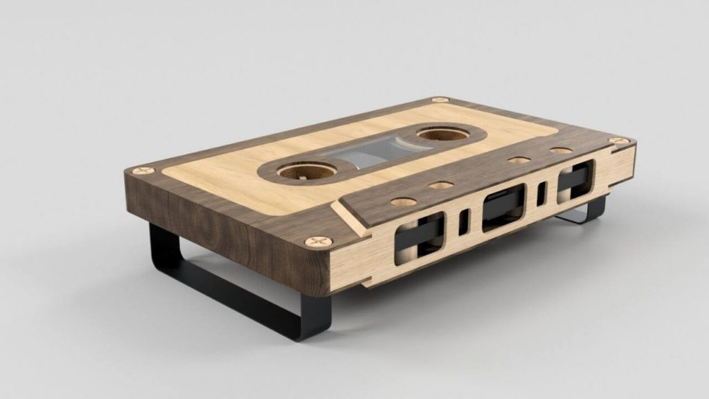 Cassette Tape End Table