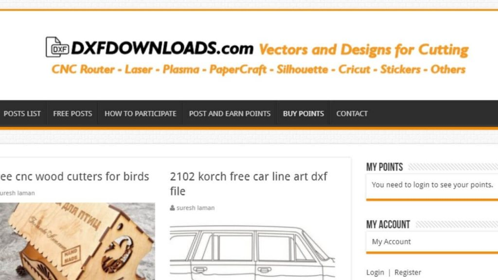 DXFdownloads Site For Free DXF Files