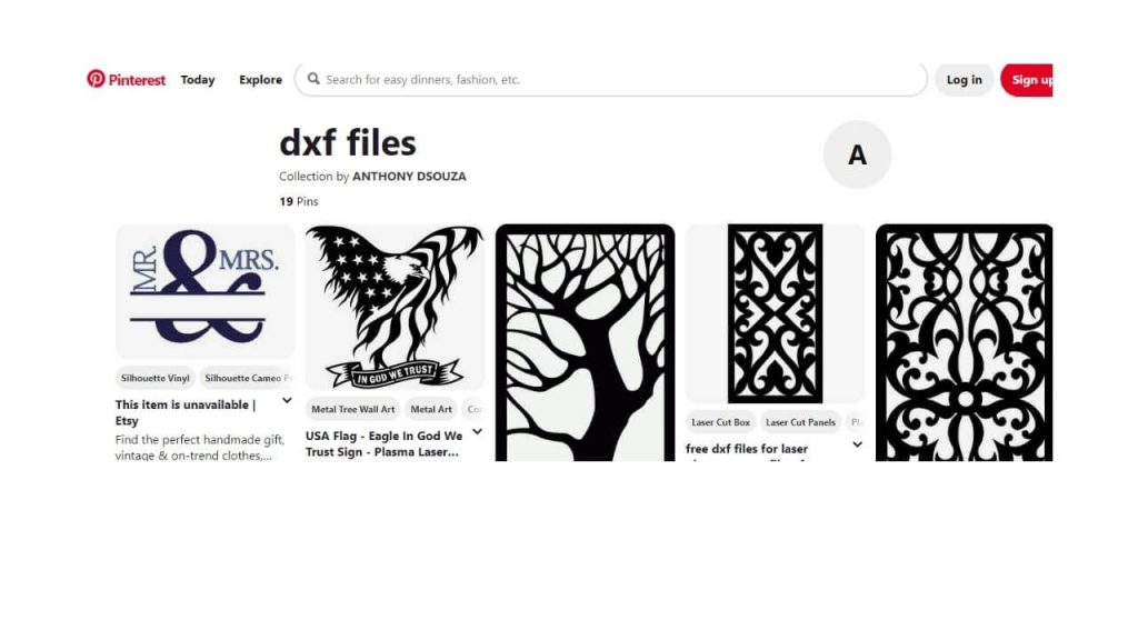 Pinterest Site For Free DXF Files