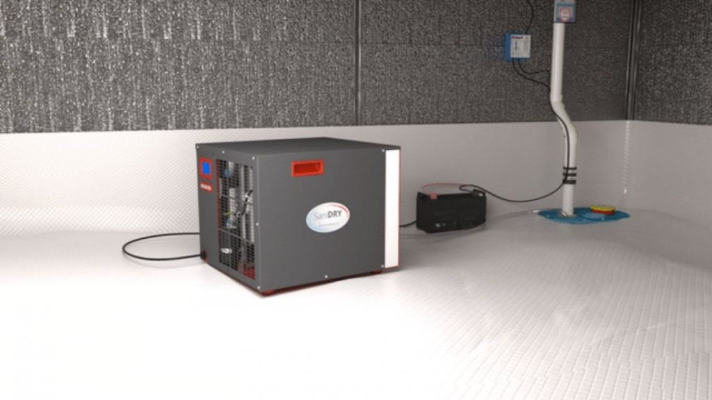 crawl space dehumidifier with pump