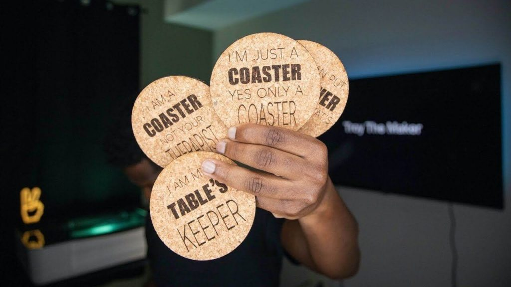 Monogrammed Cork Coasters