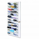 4 Layers Hanging Shoe Rack for 12 Pairs of Shoe Rack with Non Slip Door Pads to Prevent Scratching