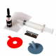 Car Windshield Repair Kit Tools with Auto Glass Windscreen Repair Set and Decorative Stickers